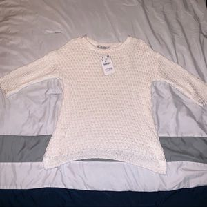 Lara Knit White Sweater